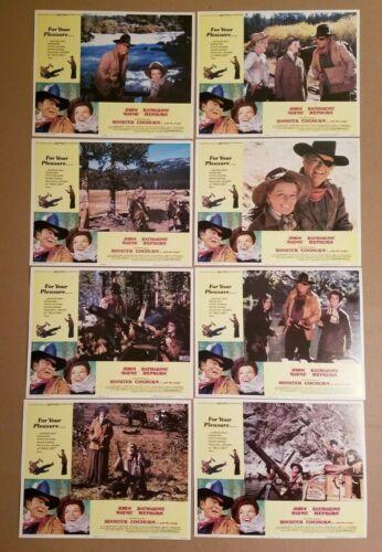 ROOSTER COGBURN 1975 COMPLETE 11x14 Lobby Card Set 8 John Wayne 75/212 Bonus DVD