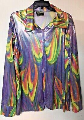 1960s – 70s Men's Ties | Skinny Ties, Slim Ties Tie Dye 1960s 1970s Hippie Retro Groovy Mens Costume Long Sleeves Shirt 60s 70s $14.95 AT vintagedancer.com