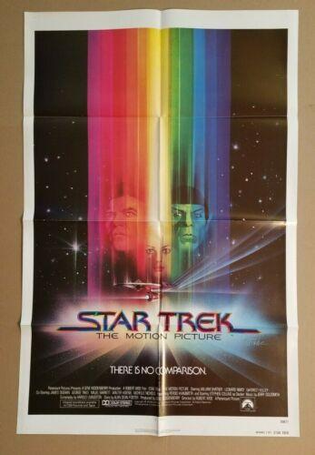 "STAR TREK: THE MOTION PICTURE 1979 Orig 27""x41"" folded 1-sheet poster Adv 790177"