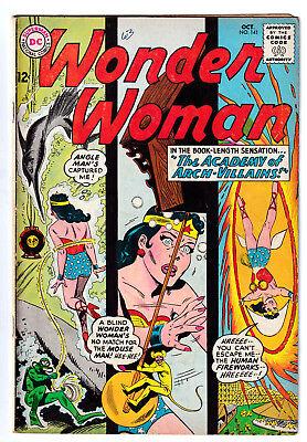 WONDER WOMAN 141 (1963) Academy of Arch-Villains; VG+ 4.5 - Comic Book Women Villains