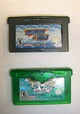 Gameboy Megaman & Bass + Pokemon Emerald Version