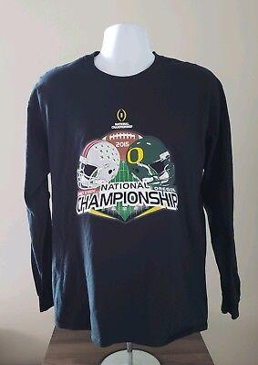 Ohio State vs Oregon 2015 Football National Championship Black Large Long