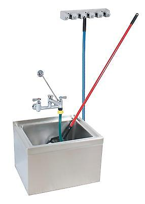 Bk Resources 16x20x12 Floor Mount Stainless Steel Mop Sink Kit