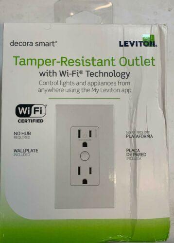 Leviton Decora Smart Wi-Fi Duplex Tamper Resistant Outlet (H16)