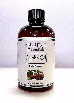 100% Jojoba Oil 4 oz. Bottle Cold Pressed Golden Unrefined ORGANIC