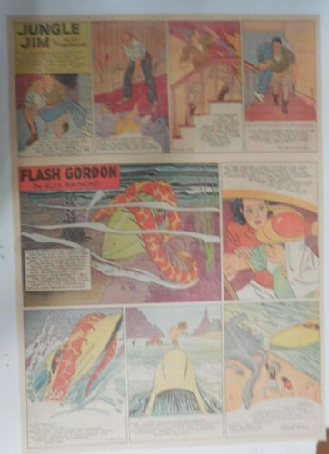 Flash Gordon Sunday by Alex Raymond from 11/28/1943 Large Full Page Size !