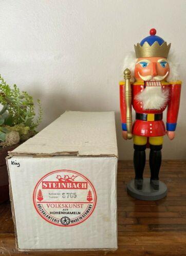 """Vintage~Steinbach~Nutcracker 14"""" King S705 w/ Original Box"""