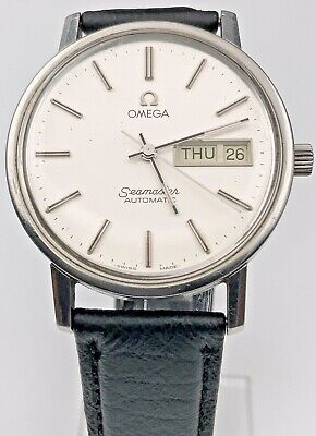 VINTAGE SERVICED OMEGA AUTOMATIC SEAMASTER DAY DATE 17J CAL.1020 MENS WATCH
