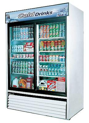 Turbo Air Tgm-48r-n 48cf Merchandiser Cooler 2 Sliding Glass Door White Finish
