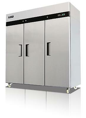 Migali C-3f 72 Cu.ft Stainless Steel Reach In Freezer Three Solid Doors
