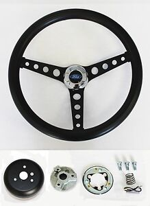 Maverick-Torino-Galaxie-Thunderbird-LTD-Black-on-Black-Steering-Wheel-14-1-2-034