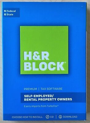H R Block Premium 2017 Tax Software Self Employed  Rental Property