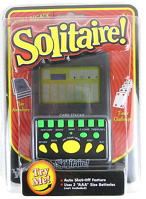 Pocket Arcade - Handheld SOLITAIRE Electronic Pocket Arcade Hand Held Travel Card Game Toy