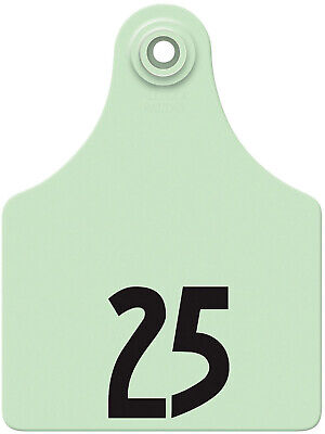 Allflex Global Maxi Numbered Cattle Ear Tags Green 51-75