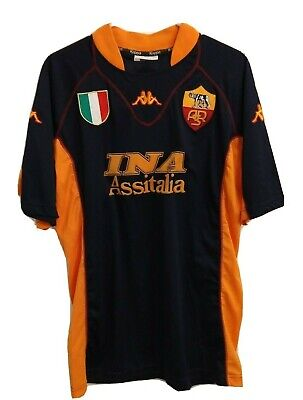 2001/2002 AS Roma Vintage Kappa Soccer Football Jersey Men's Size XL