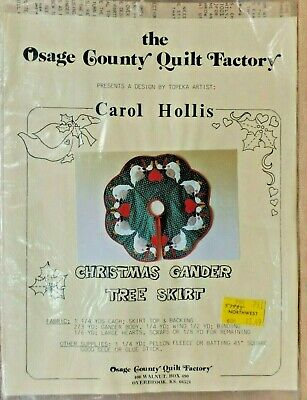 CHRISTMAS GANDER TREE SKIRT SEWING APPLIQUE PATTERN OSAGE COUNTRY UNCUT VINTAGE