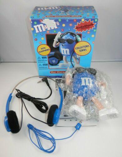 M&Ms Blue Character AM/FM Radio w/Headphones - Built In Speaker Radio Shack NOS