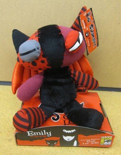 Emily the Strange Jinx Kitty Plush - NEW SDCC Exclusive RED Wing Edition Limited