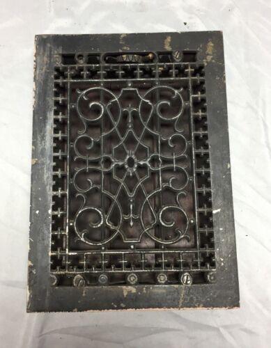 Antique Cast Iron Decorative Heat Grate Floor Register 8X12 Vintage Old 539-18C
