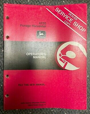 John Deere 4720 Forage Harvester Operator Manual Om-e73382 I4 I-7