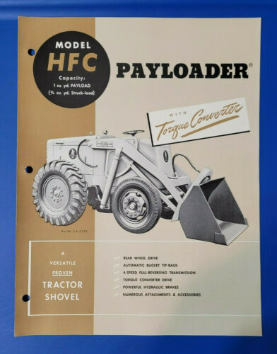 Model HFC International Harvester Hough Payloader Vintage Brochure