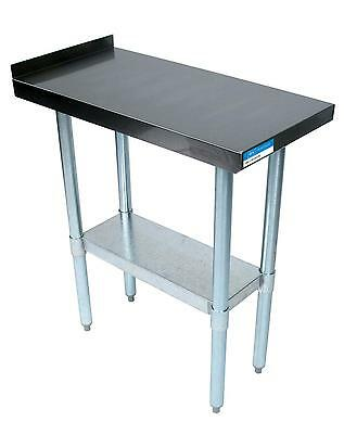 Bk Resources Commercial Kitchen Stainless Filler Prep Table 15w X 30d