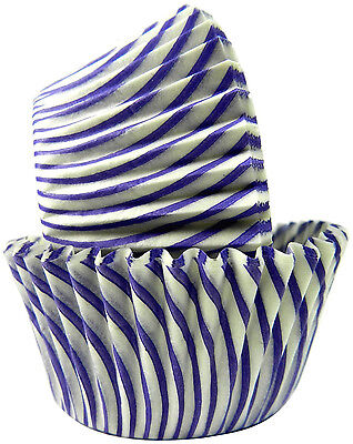 STRIPED PURPLE - CUPCAKE LINERS - 50 Ct. -  Standard Size