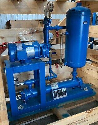 Sterling Sihi Sv-3236 Liquid Ring Vacuum Pump Skid Itt Sx2000 Heat Exchanger