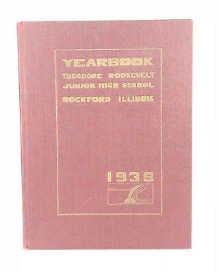 Vtg 30s 1939 Yearbook Theodore Roosevelt High School Regina DalSanto Rockford IL