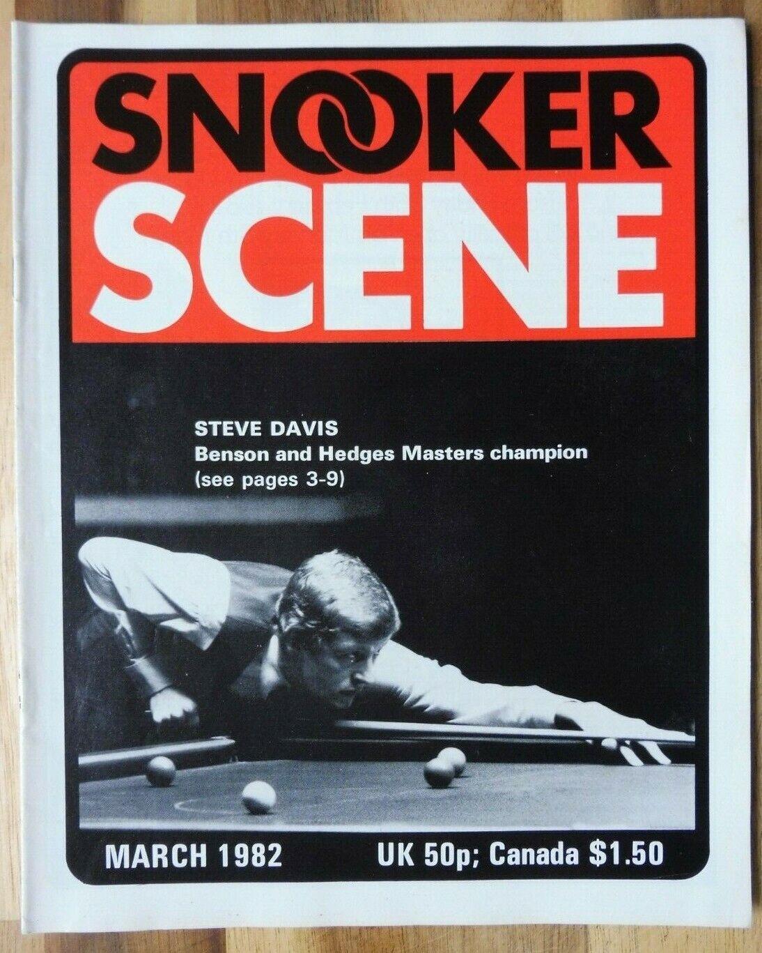 Snooker Scene Magazine, March 1982, Good Condition.
