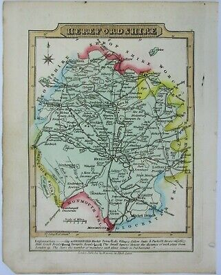 Antique map of Hertfordshire by William Lewis 1819