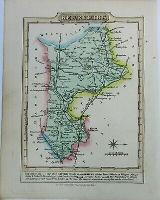 Antique map of Berkshire by William Lewis 1819