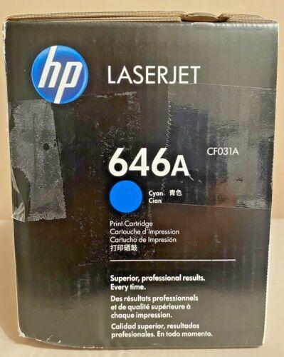 Genuine HP CF031A 646A Cyan Sealed Damaged Box!