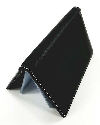 Deli Leather Business Name Cards Holder - Book Style - 90 Counts - Black