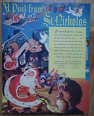 A VISIT FROM ST. NICHOLAS * 1940 * Vintage & Very Rare * Christmas Pamphlet