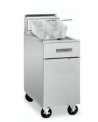 American Range Af-3550 45lb Gas Commercial Deep Fryer Heavy Duty Nsf