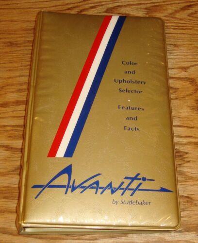 Original 1963 Studebaker Avanti Color & Upholstery Selector Facts Dealer Album