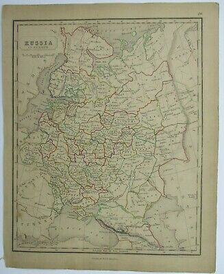 Antique Map of Russia by William & Robert Chambers 1845