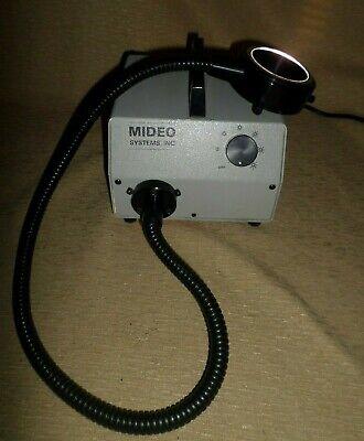 Schott Fostec Fiber Optic Ring Light 3 Mideo Systems Microscope Light Source