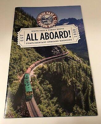 New! Alaska White Pass & Yukon Route Onboard Train Railroad Magazine 2018