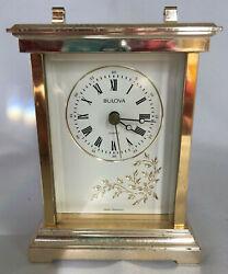 Bulova Quartz Table Clock Vintage West Germany