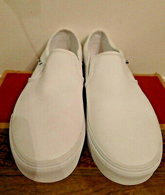 Vans Classic Slip-On Unisex Adults Classic Slip On Trainers True White, 7.5W 6 M