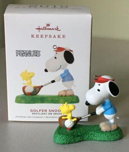 Hallmark 2019 Spotlight on Snoopy 22nd Ornament GOLFER SNOOPY ~ NMIB