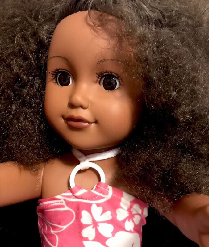 "Cititoy My Life 18"" Brown Natural Hair And Eyes Dark Skin  African American  GUC"