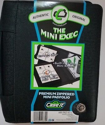 The Mini Exec Premium Zippered Padfolio W 3-ring Binder Holds Tablet