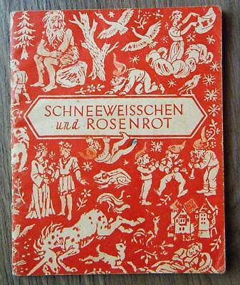 Brüder Grimm Schneeweißchen und Rosenrot Rapunzel Unsere bunte Märchenreihe 1970