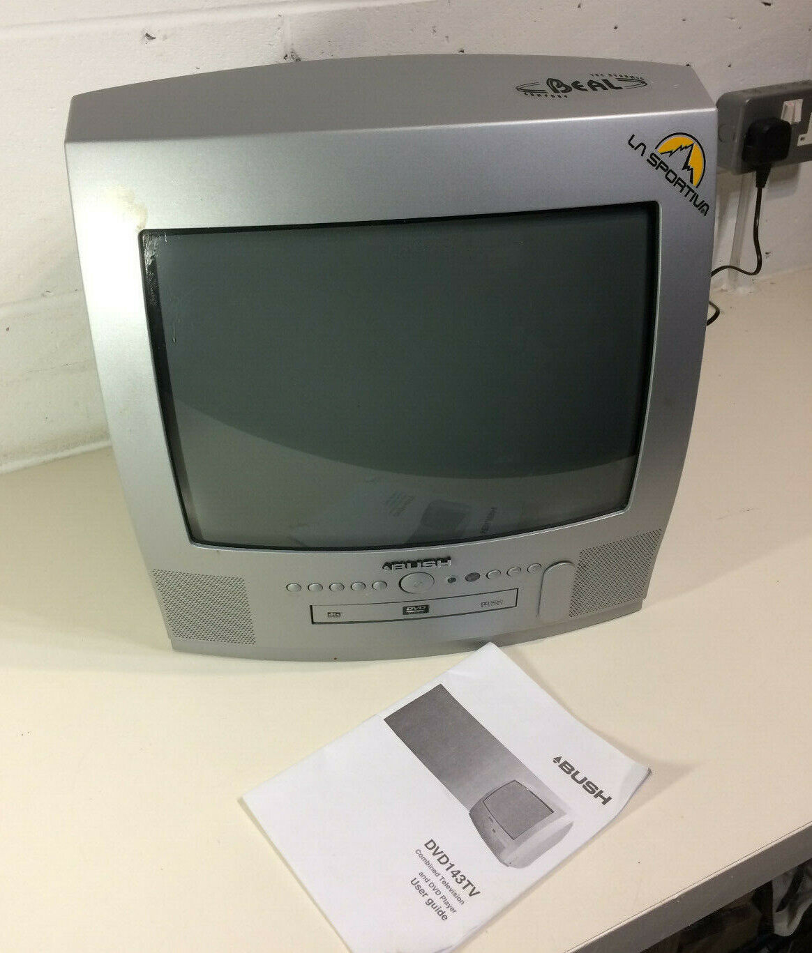 "Bush TV Television DVD Combi 14"" Screen CRT TV Retro Gaming Monitor Scart Silver"