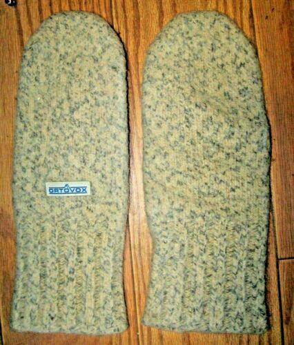 Vintage 70s L - XL EUC ORTOVOX DACHSTEIN Heavy / Thick Boiled Wool WARM Mittens