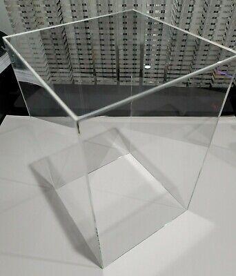 12.5 X 6.5 X 6.5 Clear Acrylic Display Box W Base Showcase Store Hot Toys 16
