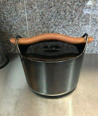 Vintage Timo Sarpaneva for Rosenlew Black Cast Iron Enamel Dutch Oven Pan  Vintage Black Cast Iron
